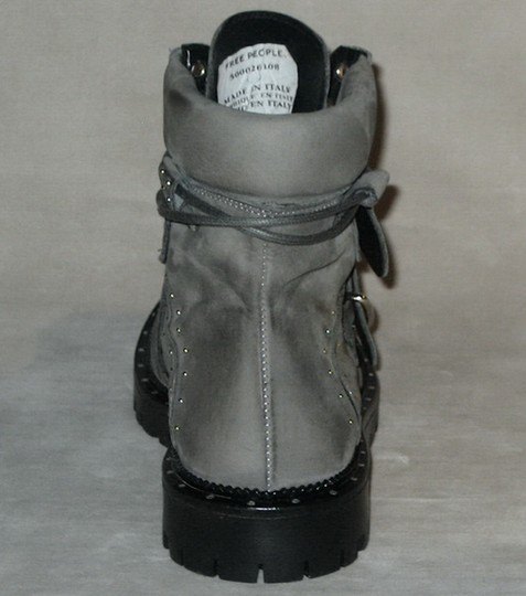 Free People Hiker Studded Made In Italy Gray Boots Image 4