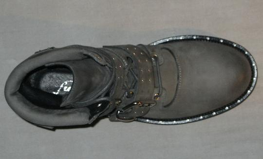 Free People Hiker Studded Made In Italy Gray Boots Image 5