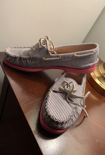 Sperry blue white stripe Flats Image 1