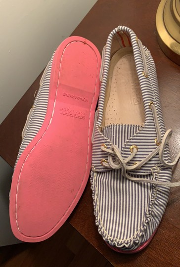 Sperry blue white stripe Flats Image 2