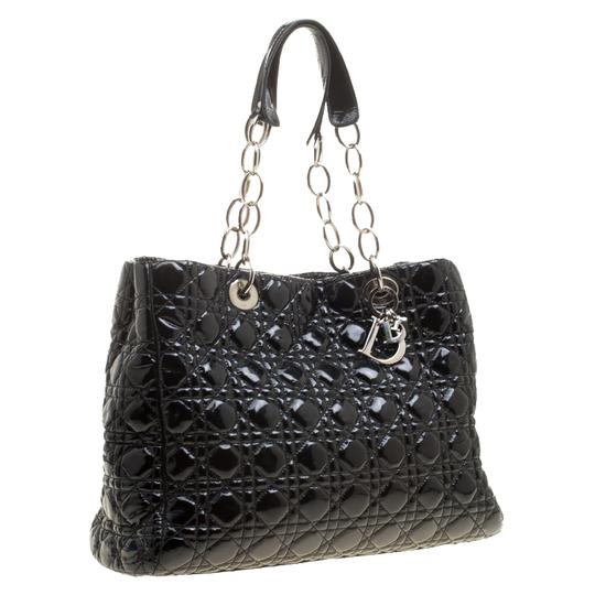 Dior Quilted Soft Patent Leather Tote in Black Image 1