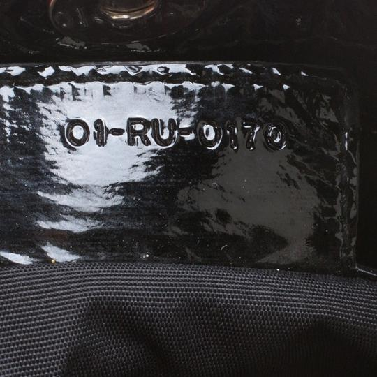 Dior Quilted Soft Patent Leather Tote in Black Image 7