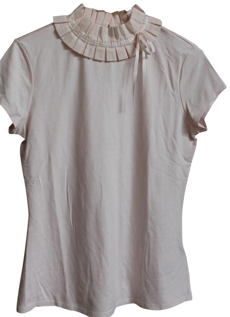 Preload https://img-static.tradesy.com/item/26156056/ted-baker-baby-pink-pleated-bow-frill-neck-fitted-t-shirt-us-nwot-blouse-size-6-s-0-1-650-650.jpg