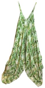 white and green Maxi Dress by Été Indian