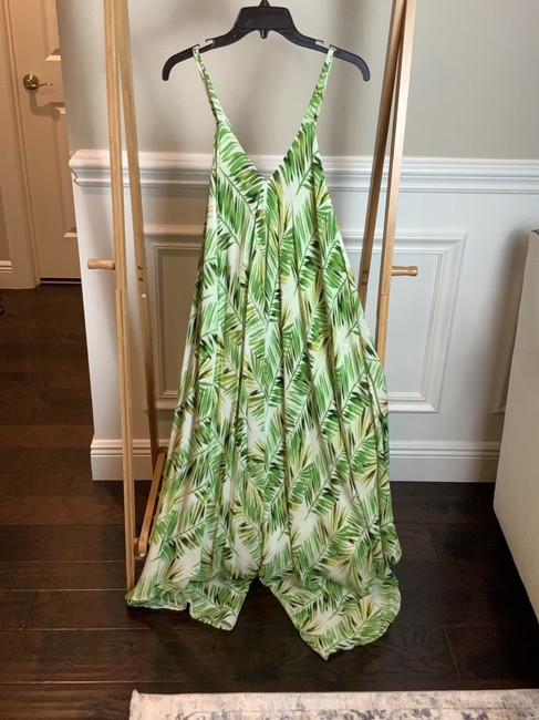 white and green Maxi Dress by té Indian Image 3