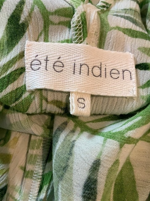 white and green Maxi Dress by té Indian Image 4