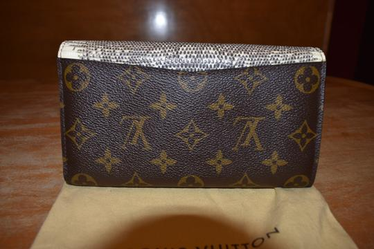 Louis Vuitton RARE Lizard Ostrich and Coated Canvas Natural Majestueux Wallet Image 1