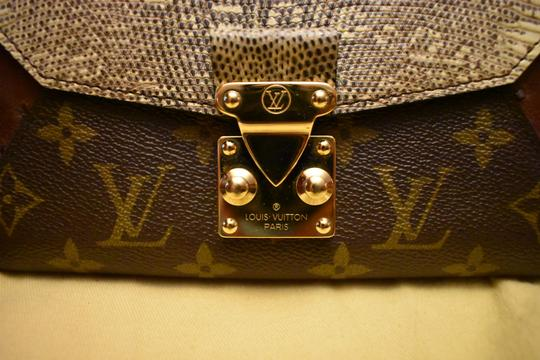 Louis Vuitton RARE Lizard Ostrich and Coated Canvas Natural Majestueux Wallet Image 2