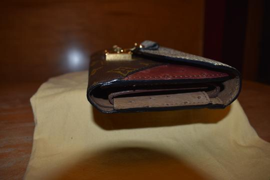 Louis Vuitton RARE Lizard Ostrich and Coated Canvas Natural Majestueux Wallet Image 3