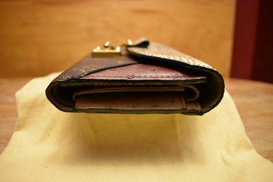 Louis Vuitton RARE Lizard Ostrich and Coated Canvas Natural Majestueux Wallet Image 4