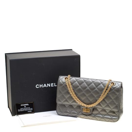Chanel Quilted Leather 2.55 Classic Shoulder Bag Image 11