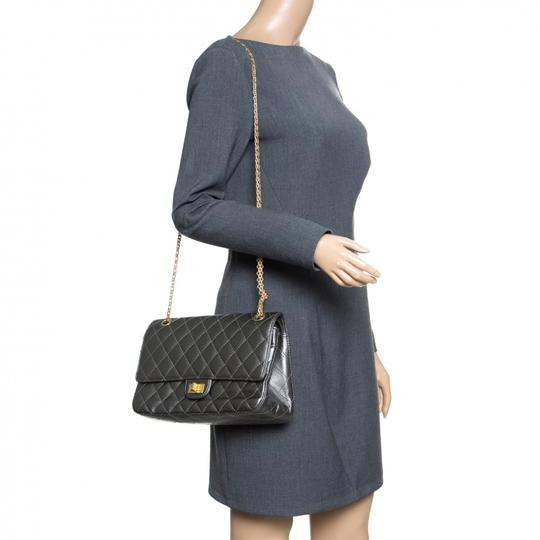 Chanel Quilted Leather 2.55 Classic Shoulder Bag Image 2
