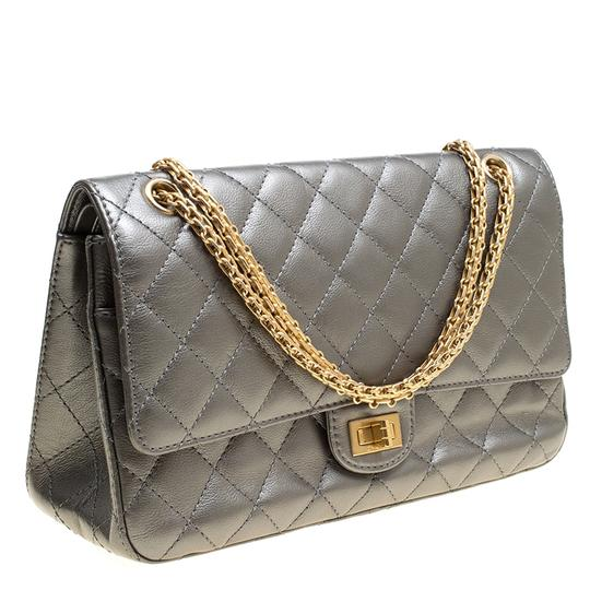 Chanel Quilted Leather 2.55 Classic Shoulder Bag Image 3