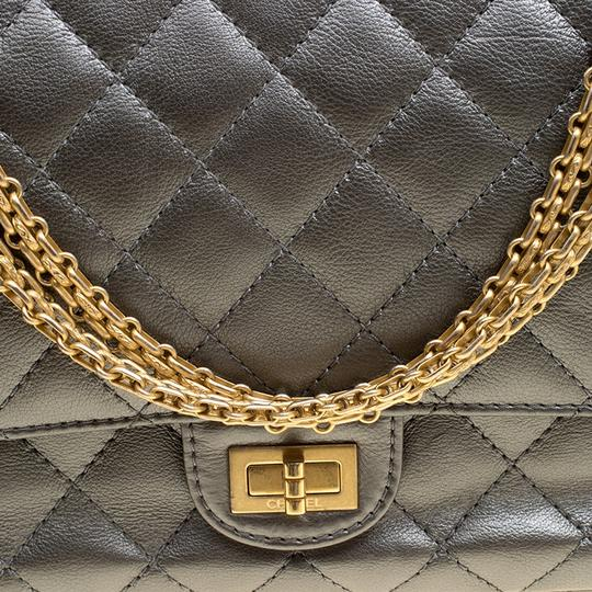 Chanel Quilted Leather 2.55 Classic Shoulder Bag Image 9