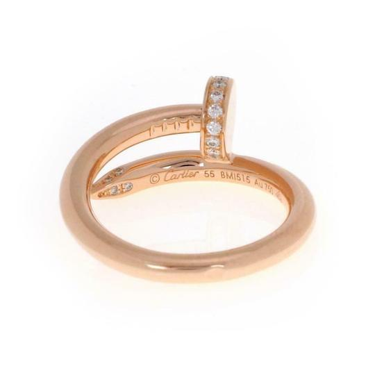 Cartier Juste un Clou Diamond 18k Rose Gold Nail Ring w/Box &Paper Image 2