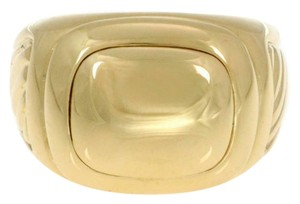 David Yurman Men's Albion 18k Yellow Gold Oval Top Cable Ring