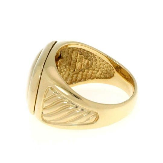 David Yurman Men's Albion 18k Yellow Gold Oval Top Cable Ring Image 1