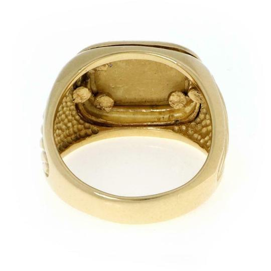 David Yurman Men's Albion 18k Yellow Gold Oval Top Cable Ring Image 2