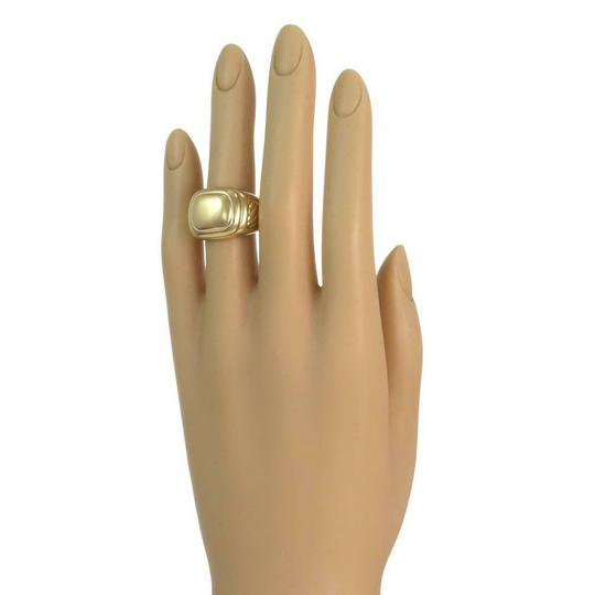 David Yurman Men's Albion 18k Yellow Gold Oval Top Cable Ring Image 3
