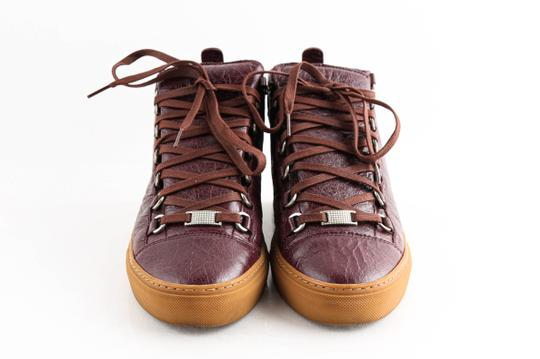 Balenciaga Red Burgundy Arena High-top Sneakers Shoes Image 1