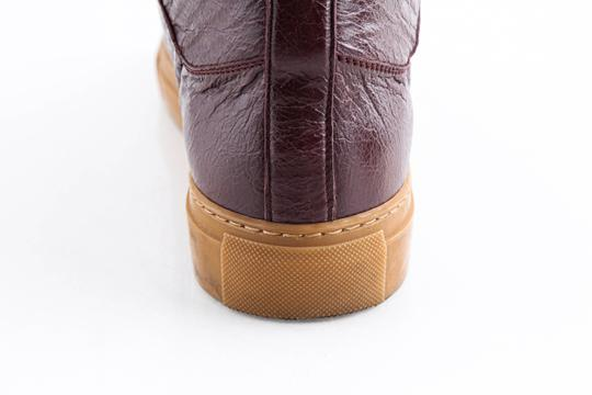 Balenciaga Red Burgundy Arena High-top Sneakers Shoes Image 10