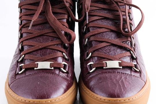 Balenciaga Red Burgundy Arena High-top Sneakers Shoes Image 11