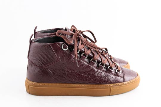 Balenciaga Red Burgundy Arena High-top Sneakers Shoes Image 3