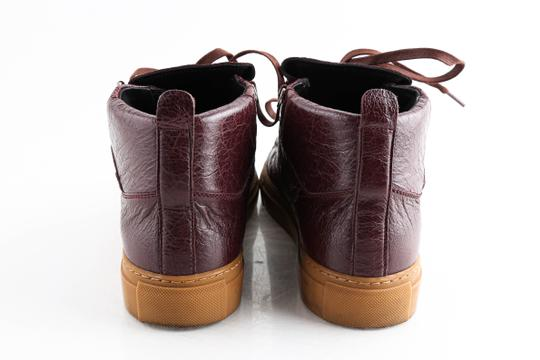 Balenciaga Red Burgundy Arena High-top Sneakers Shoes Image 4