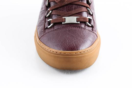Balenciaga Red Burgundy Arena High-top Sneakers Shoes Image 7