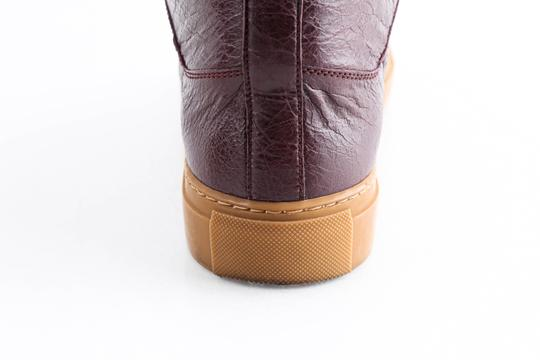 Balenciaga Red Burgundy Arena High-top Sneakers Shoes Image 9
