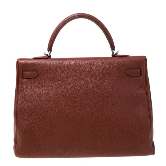 Hermès Leather Tote in Tan Image 1