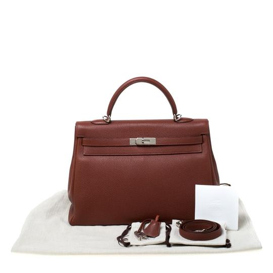 Hermès Leather Tote in Tan Image 11