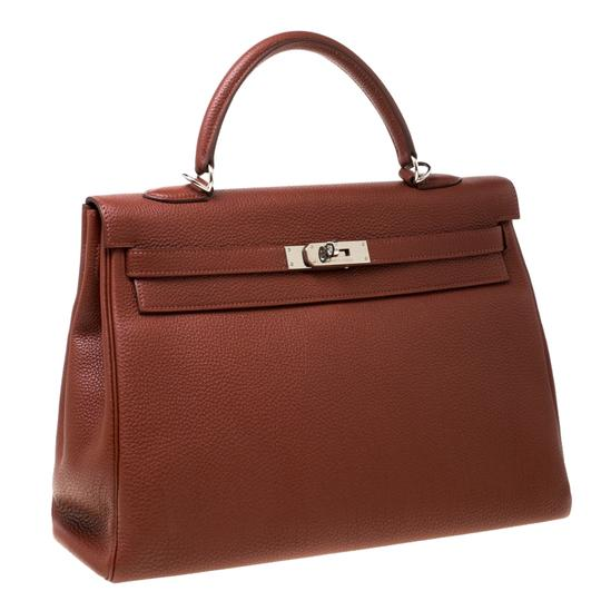 Hermès Leather Tote in Tan Image 3