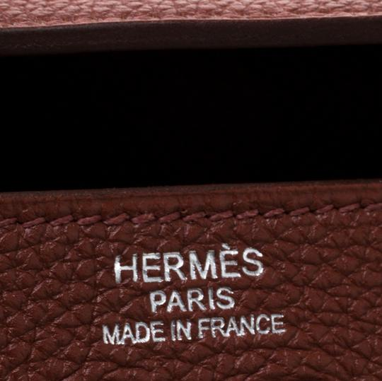 Hermès Leather Tote in Tan Image 9