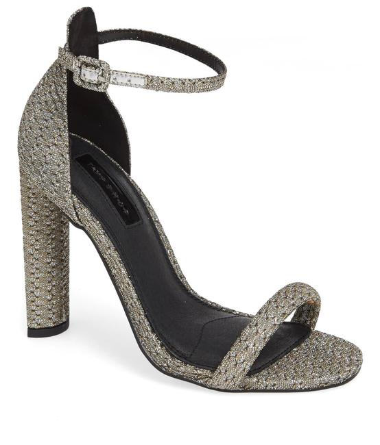 Item - Silver Ankle Strap Heels Sandals Size US 8.5 Narrow (Aa, N)