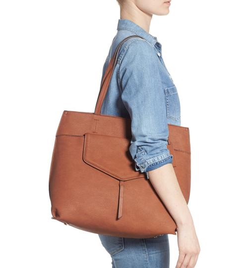 Sole Society Tote in Brown Image 8