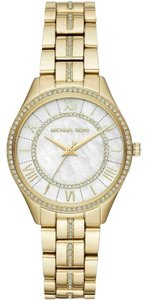 Michael Kors NEW Lauryn Gold-tone Mother Of Pearl Dial Watch MK3899