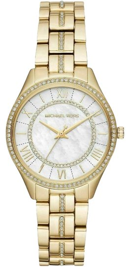 Preload https://img-static.tradesy.com/item/26156168/michael-kors-gold-tone-new-lauryn-mother-of-pearl-dial-mk3899-watch-0-1-540-540.jpg