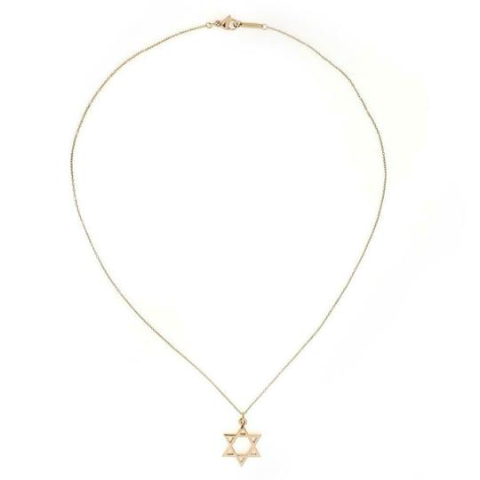 Tiffany & Co. Star of David Pendant Necklace in 18k Yellow Gold Italy Image 2