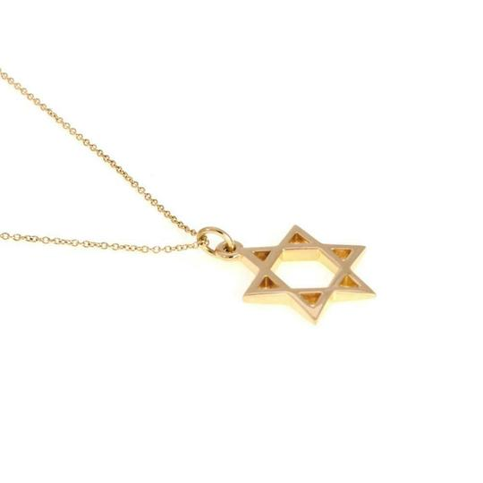 Tiffany & Co. Star of David Pendant Necklace in 18k Yellow Gold Italy Image 3