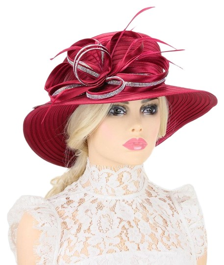 kentucky derby hat New Stone Trim Lopped Bow Braid Church Hat Image 0