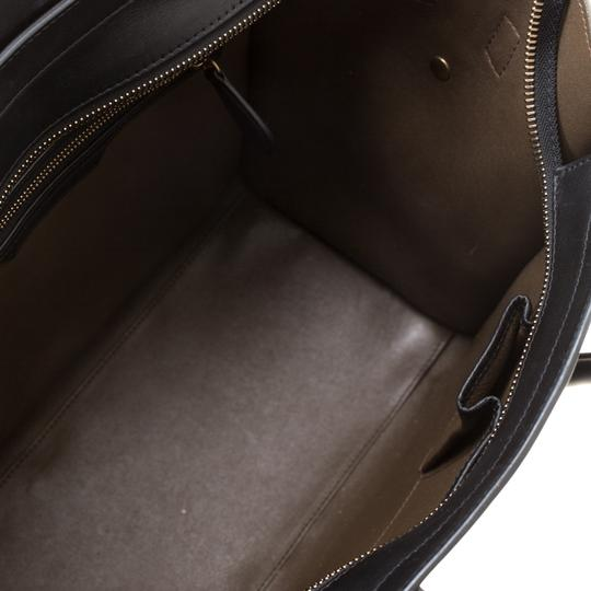 Céline Leather Suede Tote in Blue Image 5
