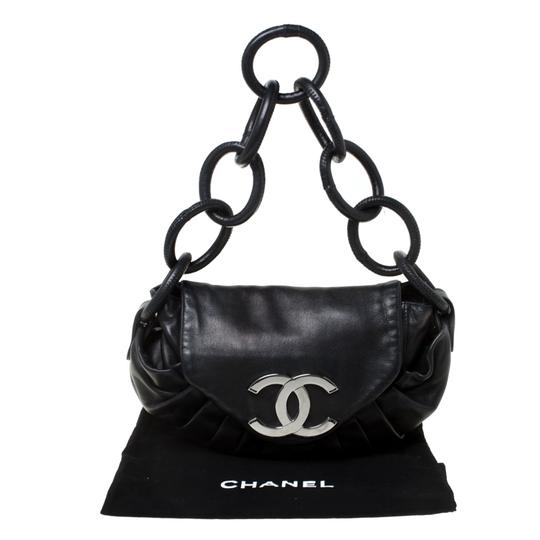 Chanel Leather Nylon Shoulder Bag Image 10
