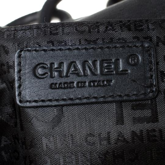 Chanel Leather Nylon Shoulder Bag Image 9