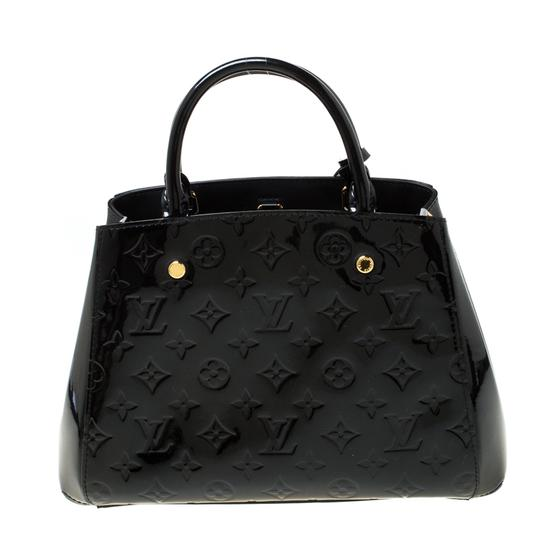 Louis Vuitton Patent Leather Canvas Shoulder Bag Image 1