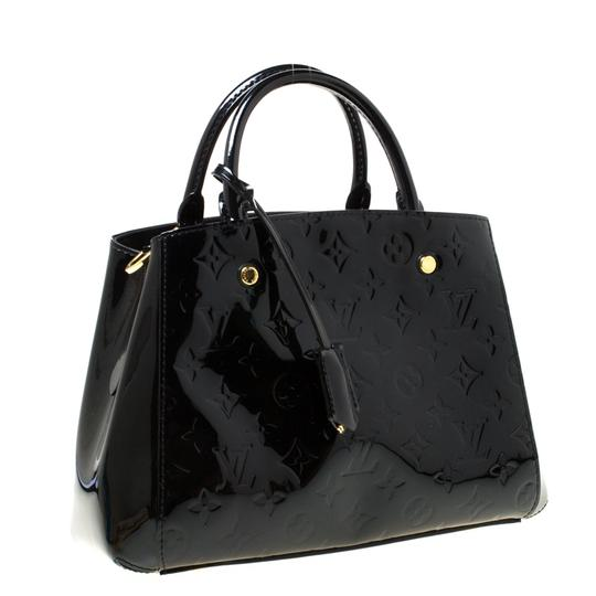 Louis Vuitton Patent Leather Canvas Shoulder Bag Image 4