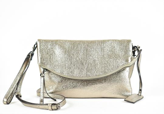 Sole Society Silver Clutch Image 1