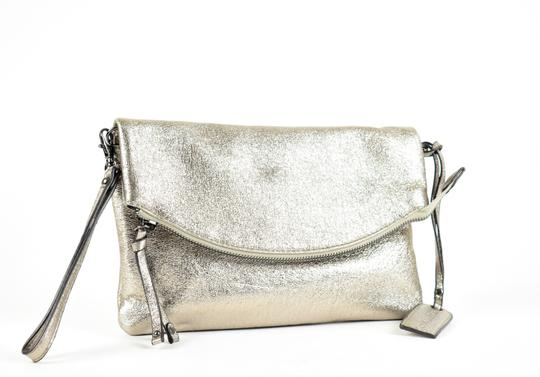 Sole Society Silver Clutch Image 2