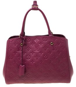 Louis Vuitton Leather Tote in Burgundy