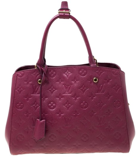 Louis Vuitton Leather Tote in Burgundy Image 0
